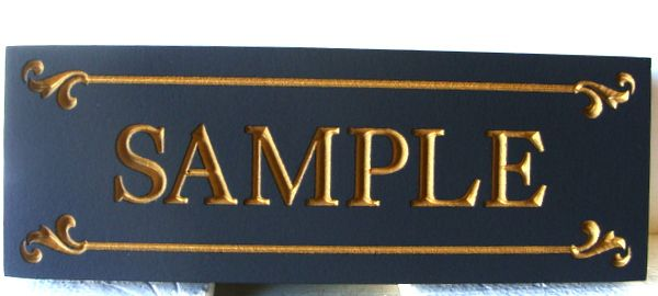 N23224 - 3-D Carved HDU Wall Plaque with Metallic Gold Paint Text and Border