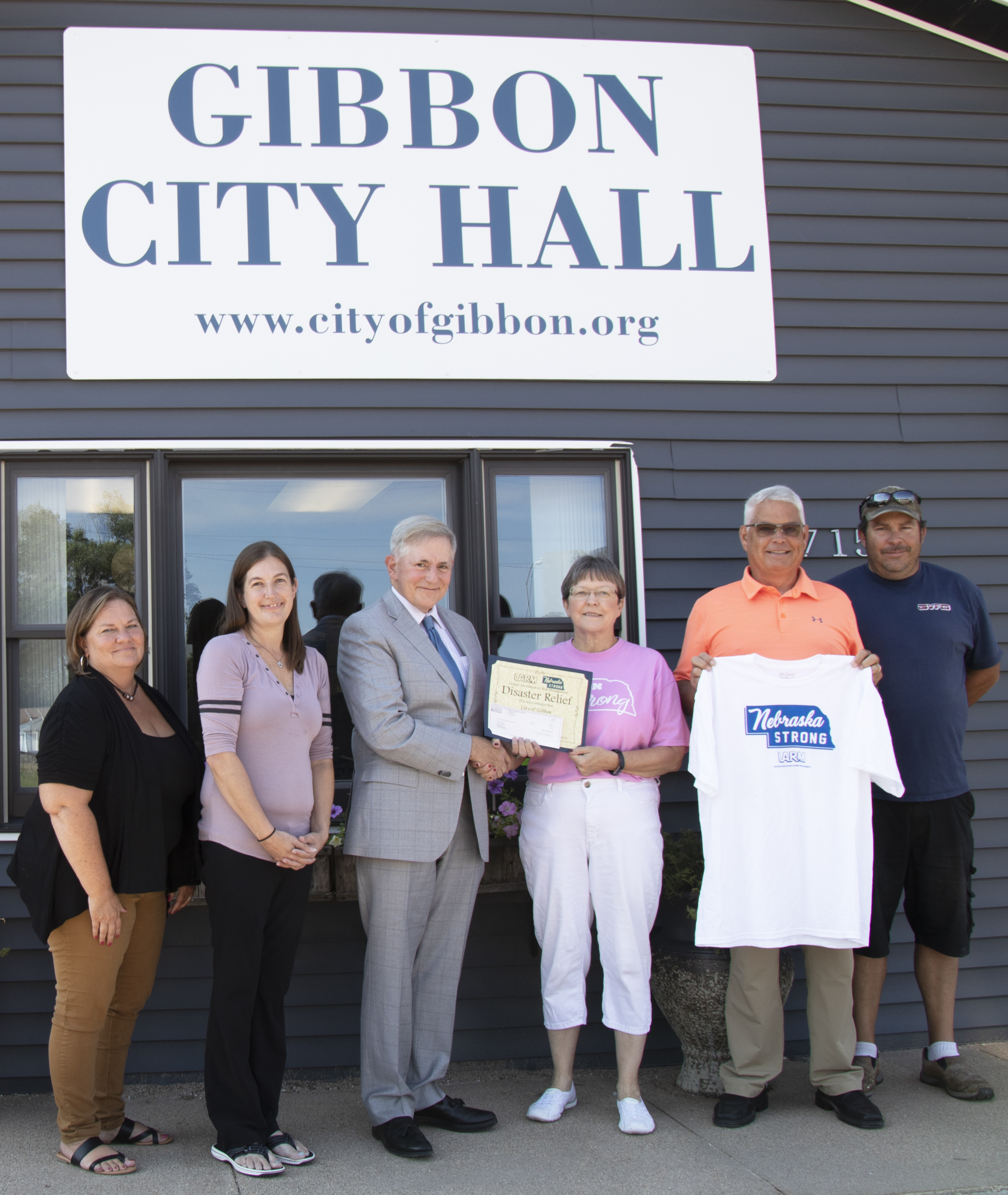 City of Gibbon awarded $500 LARM Disaster Funds