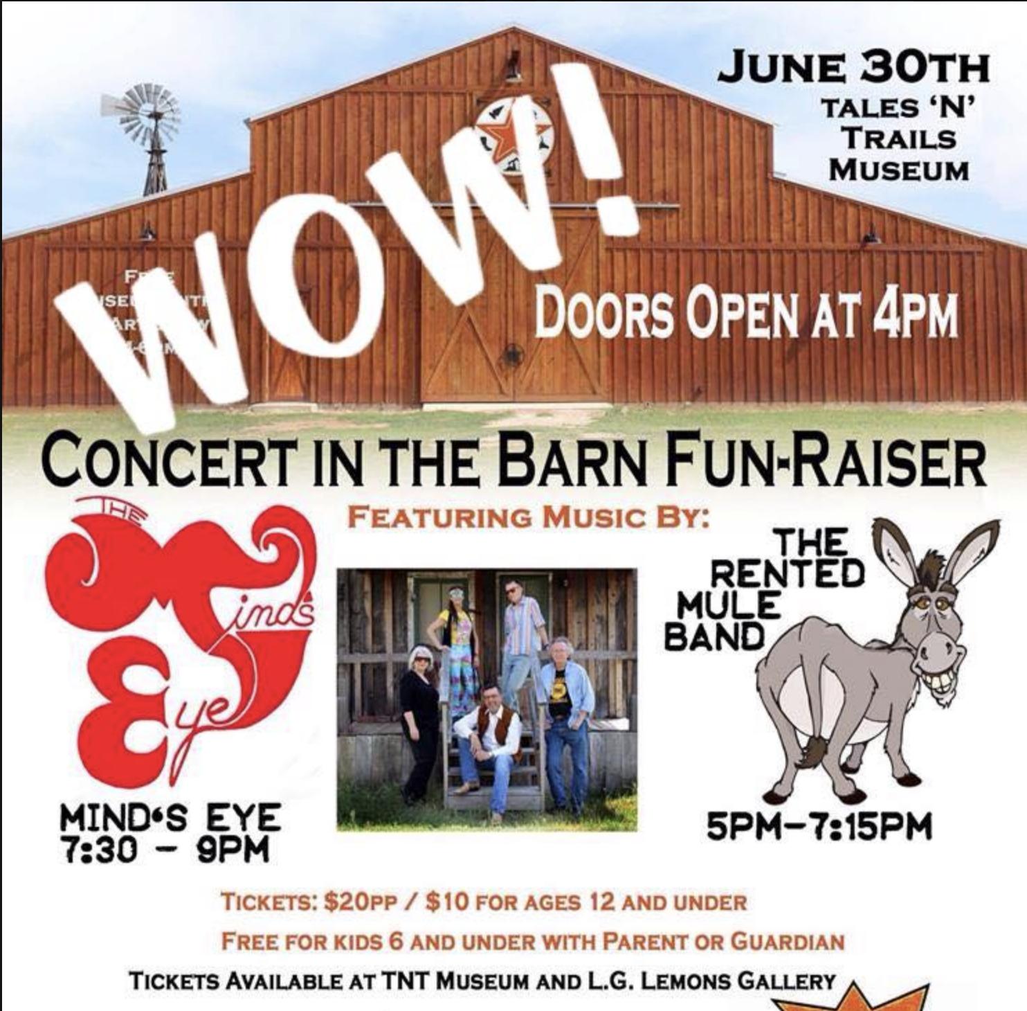Concert in the Barn Fun-Raiser