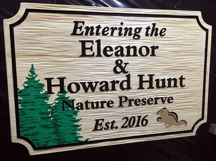 G16231 - Large HDU Sign for a Nature Preserve with the Donors' Names