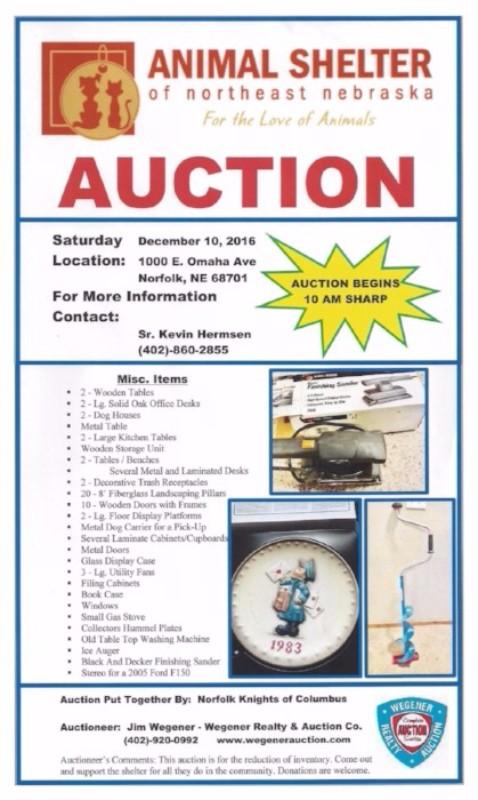 Animal Shelter Auction!
