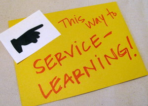 This way to service-learning