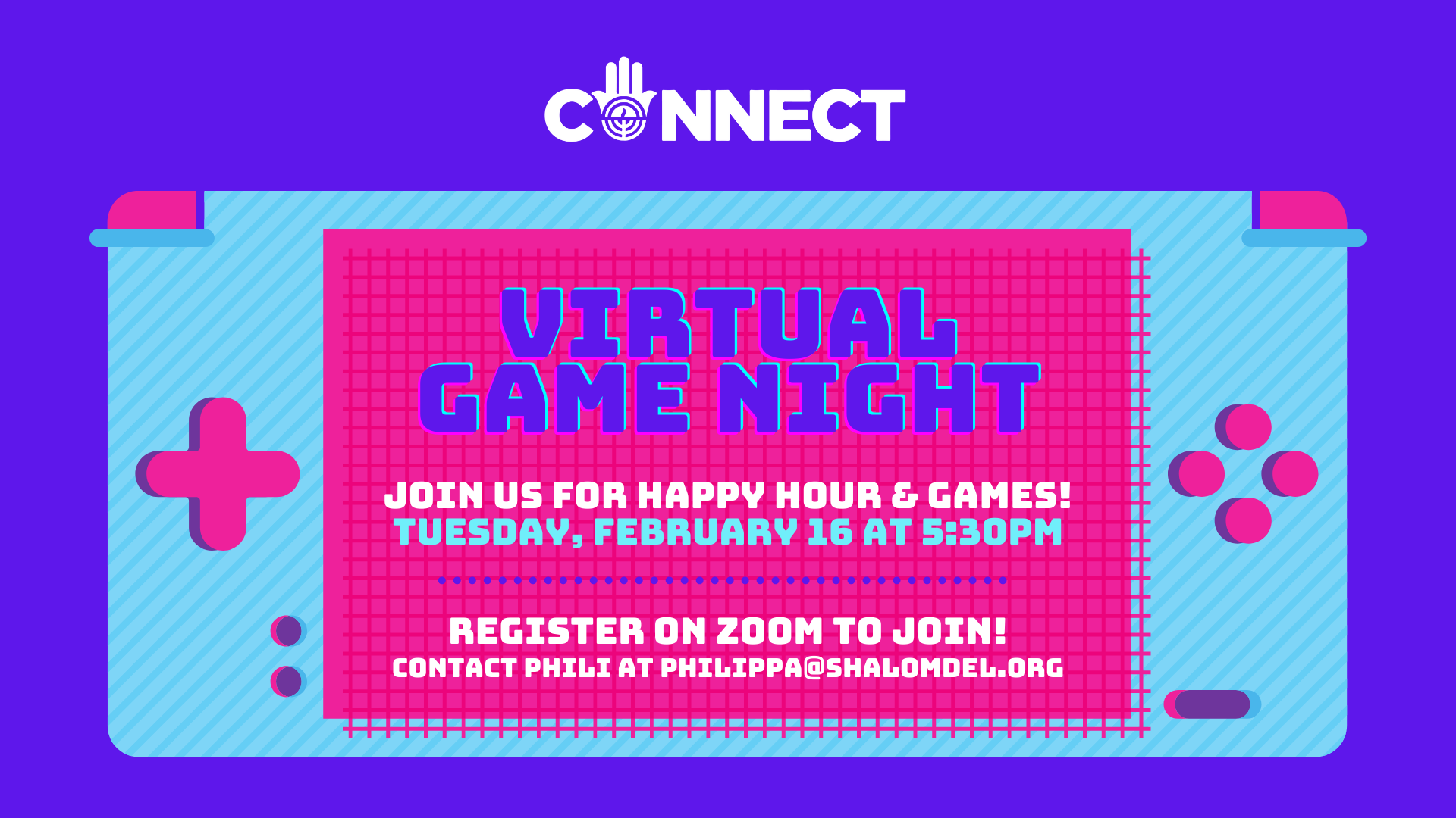 CONNECT Game night and happy hour