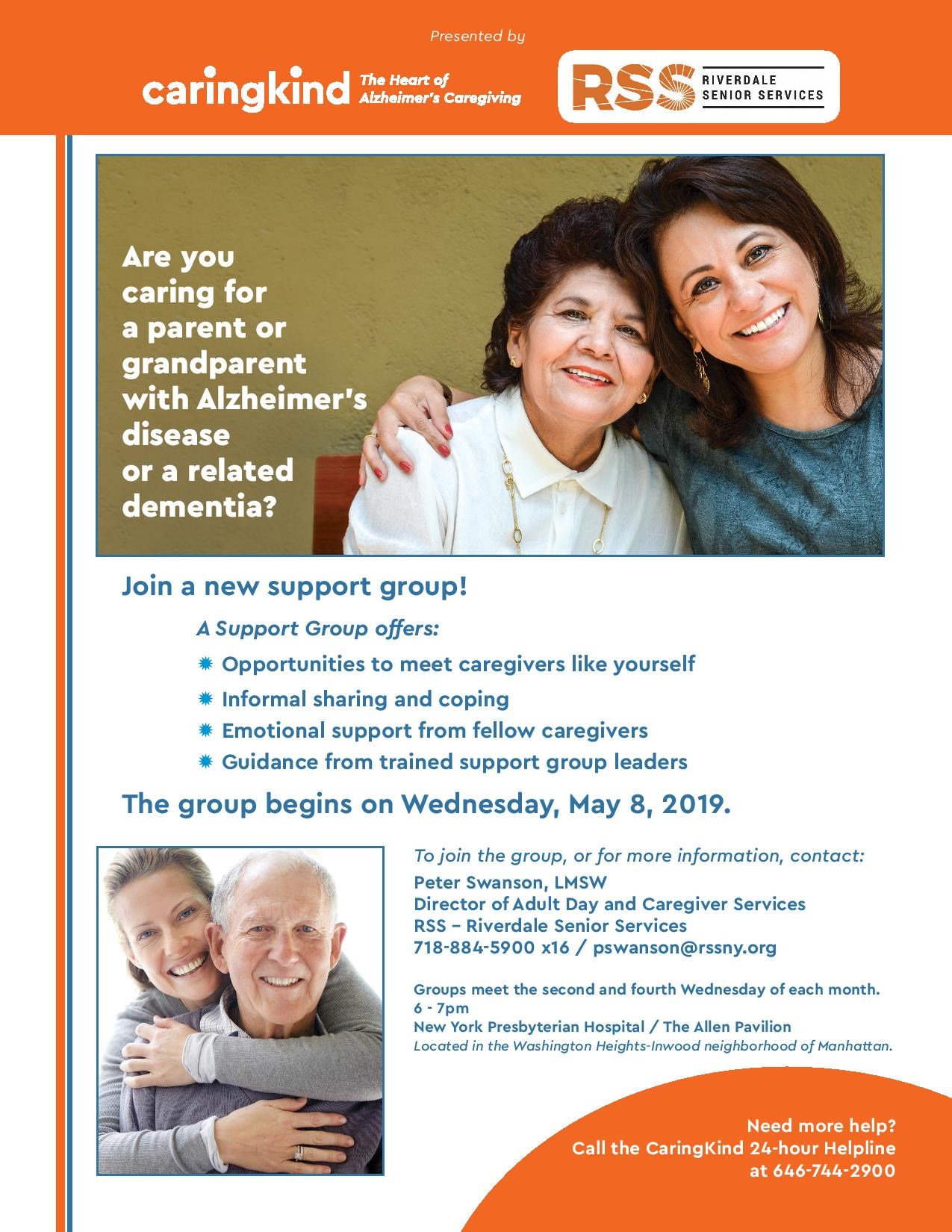 Support Group for children and grandchildren with Alzheimer's disease or a related dementia