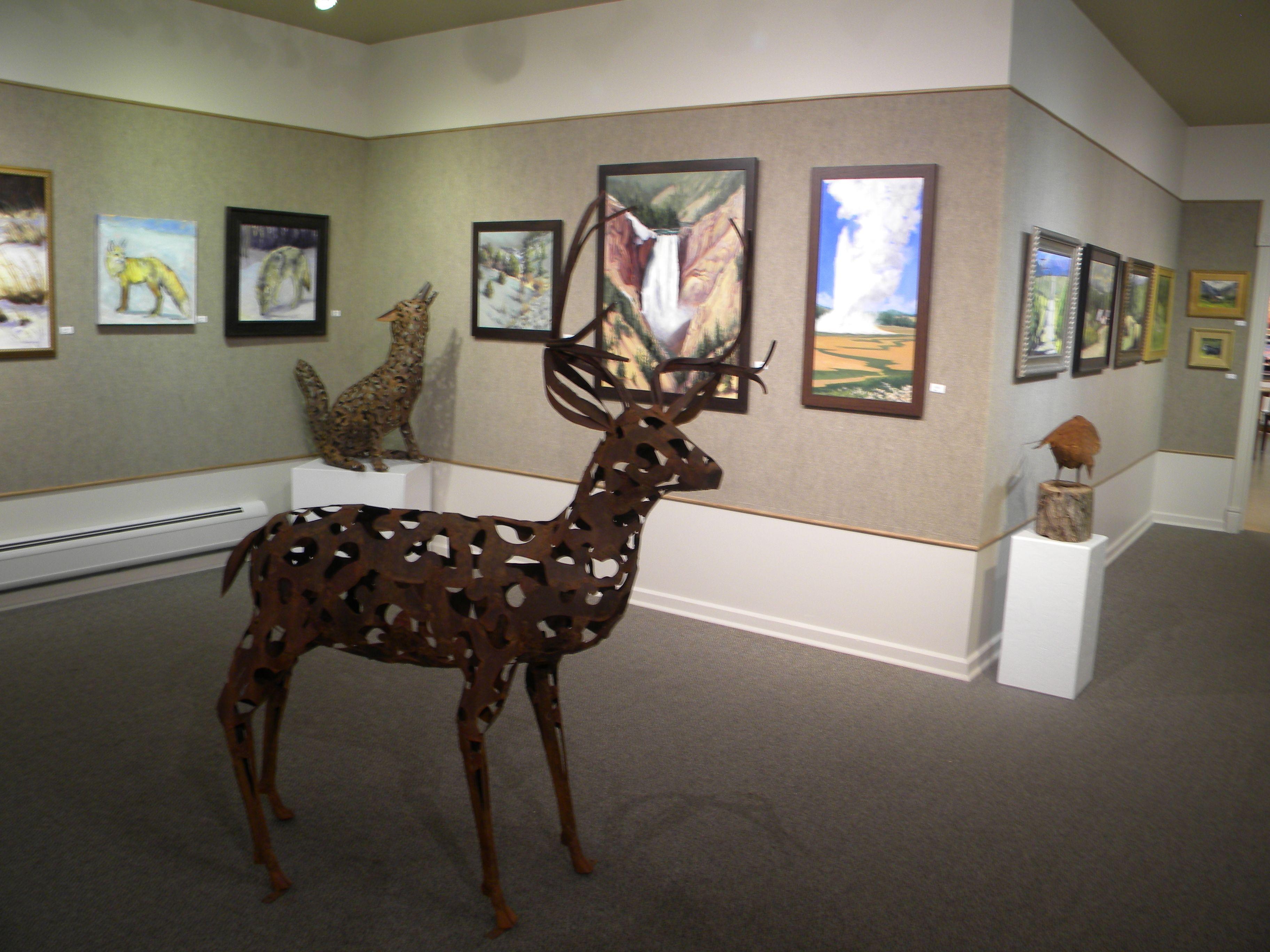 Enjoy monthly art exhibitions.