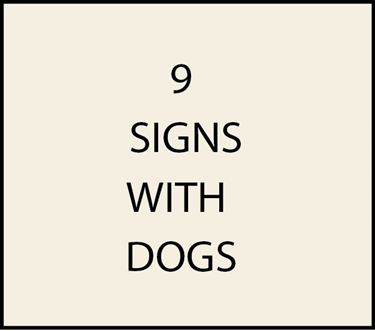 9. - I18600 - House  Address Signs with Carved Hand-Painted Dog Themes