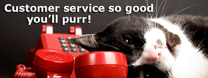 Customer service so good you'll purr!