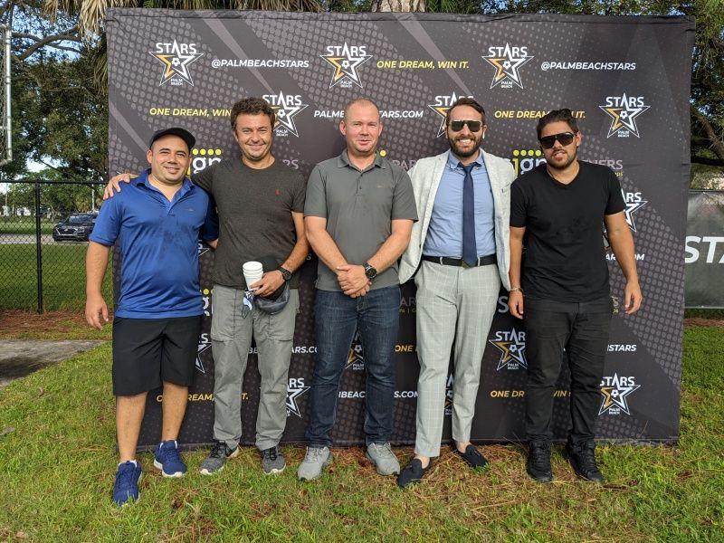Sponsorship Backdrop Palm Beach Stars - Sign Partners West Palm Beach