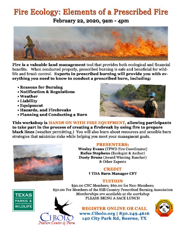 CNC: Fire Ecology - Elements of a Prescribed Burn