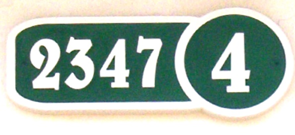 KA20877 - Carved HDU  Address Street Number Sign