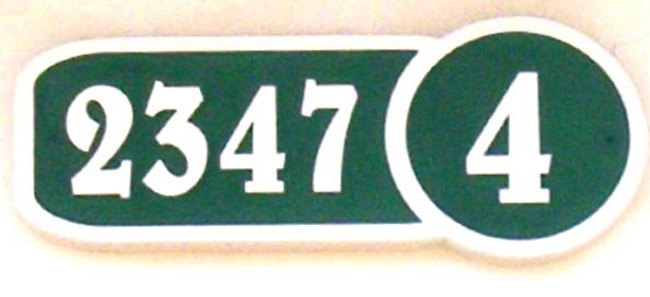 KA20877 - Carved HDU (Or Wood) Address Street Number Sign