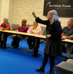 Micki Keck Teaching ASL