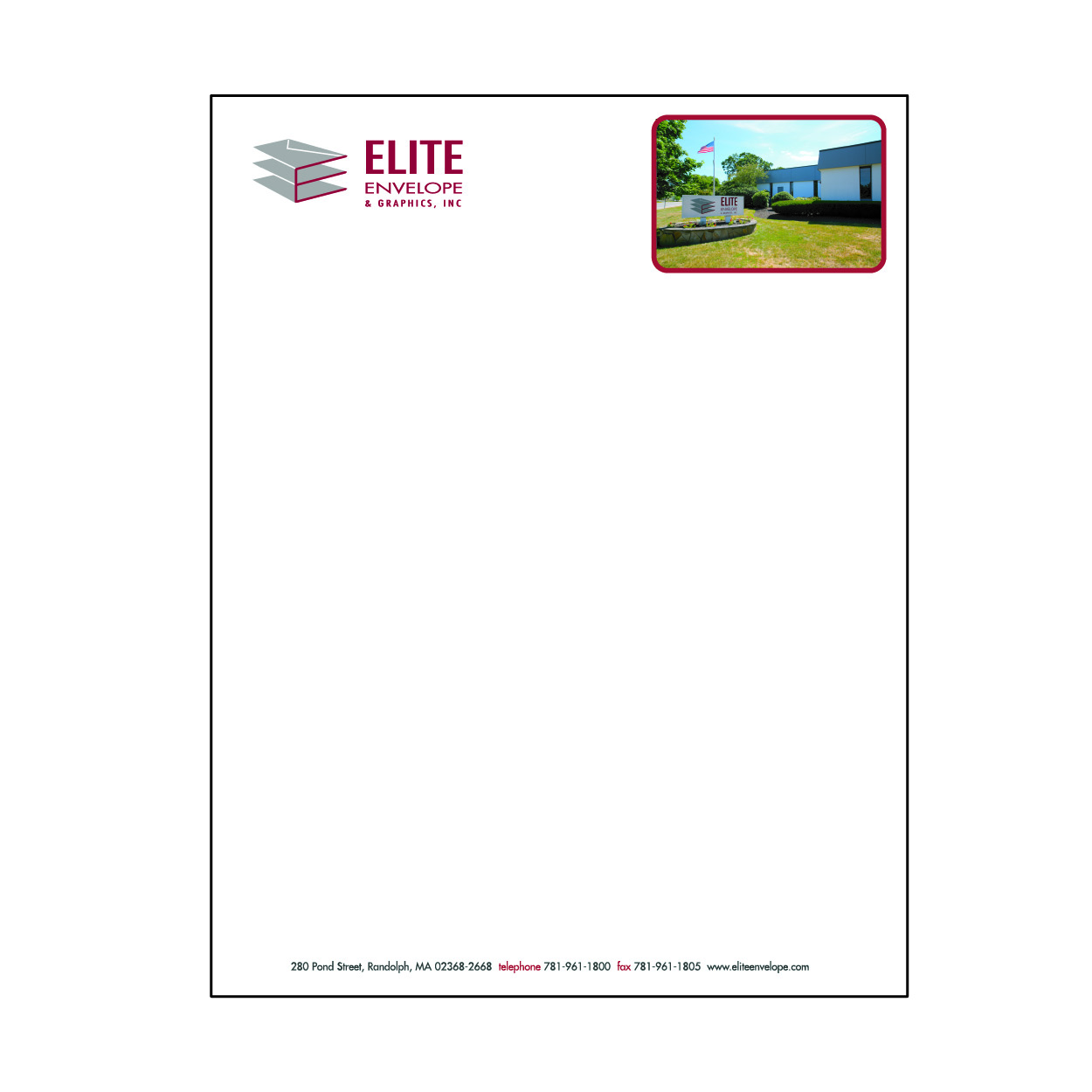 8 1/2 x 11 Letterhead and forms - four color