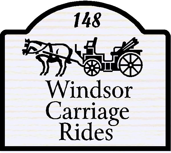 SA28458 - Design of Sign for Carriage Rides with Horse and Carriage