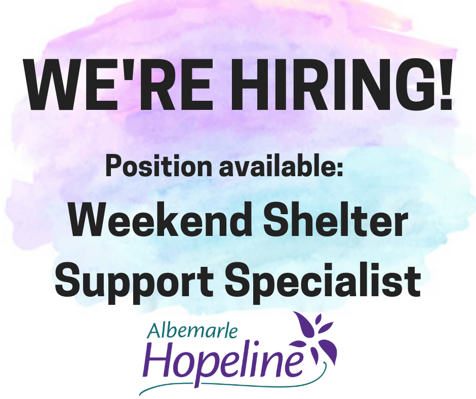 Weekend Shelter Support Specialist
