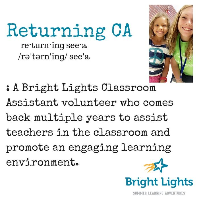 Classroom Assistants Returning for the Experience