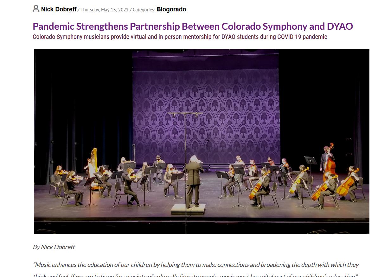 Pandemic Strengthens Partnership Between Colorado Symphony and DYAO