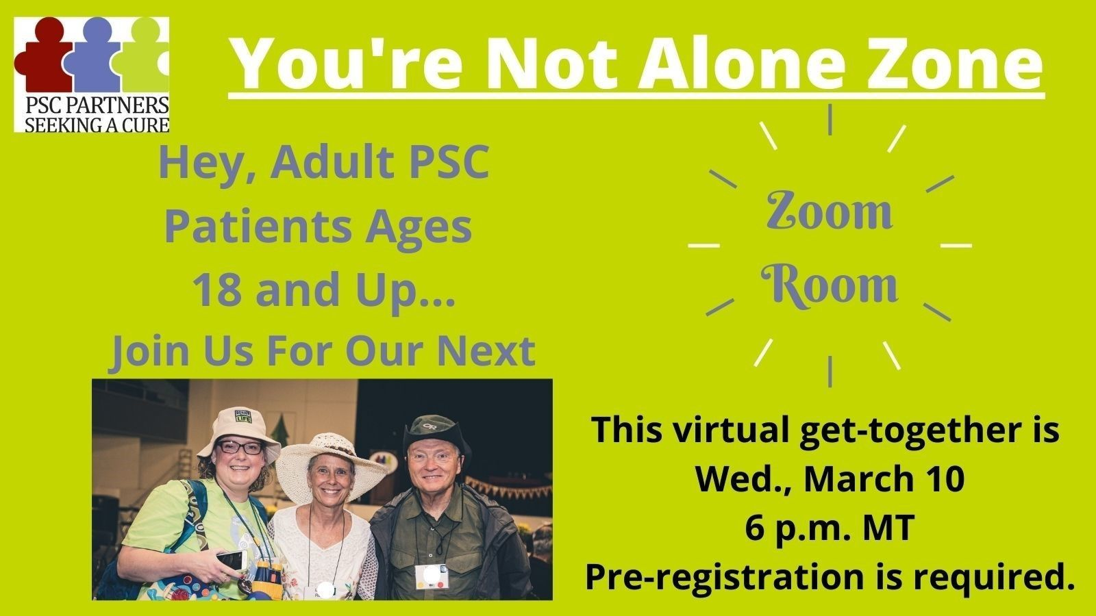 ZoomRoom for PSC Adult Patients Ages 18 and Up