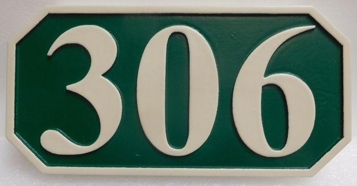 KA20918 -  Carved High-Density-Urethane (HDU) Street Number Address Sign, 2.5-D