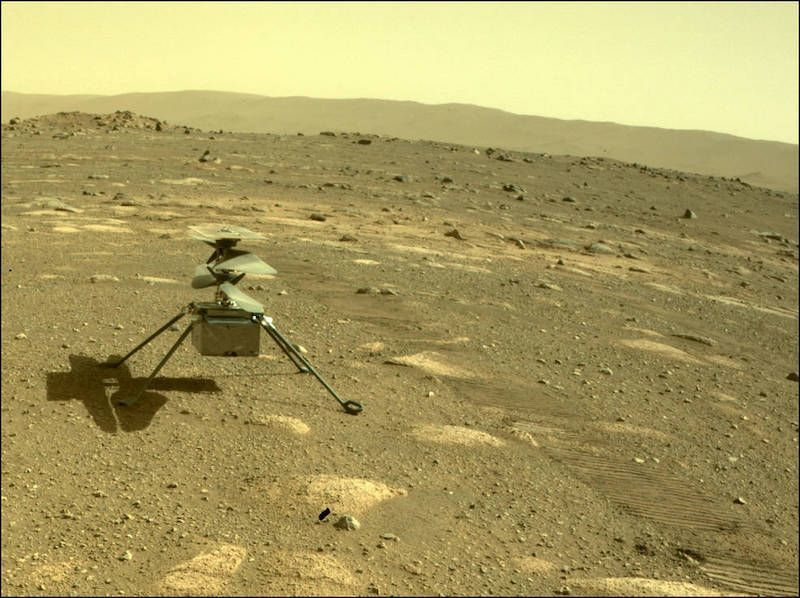 Ingenuity Helicopter Now Sits on the Martian Surface