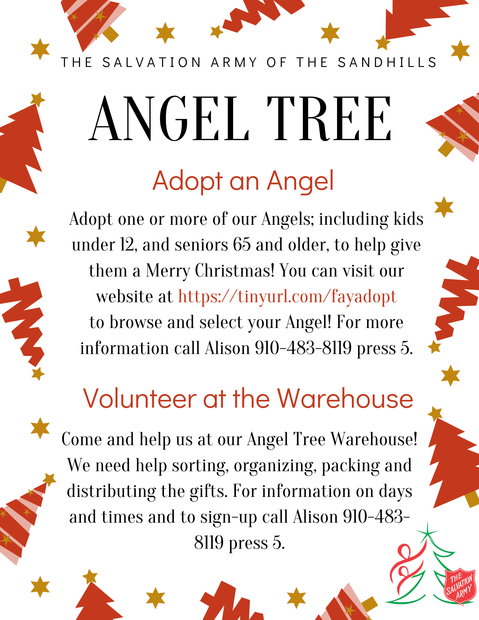 The Salvation Army Warehouse Volunteers and Angel Tree