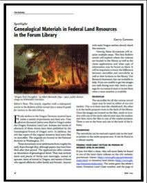Federal Land Resources