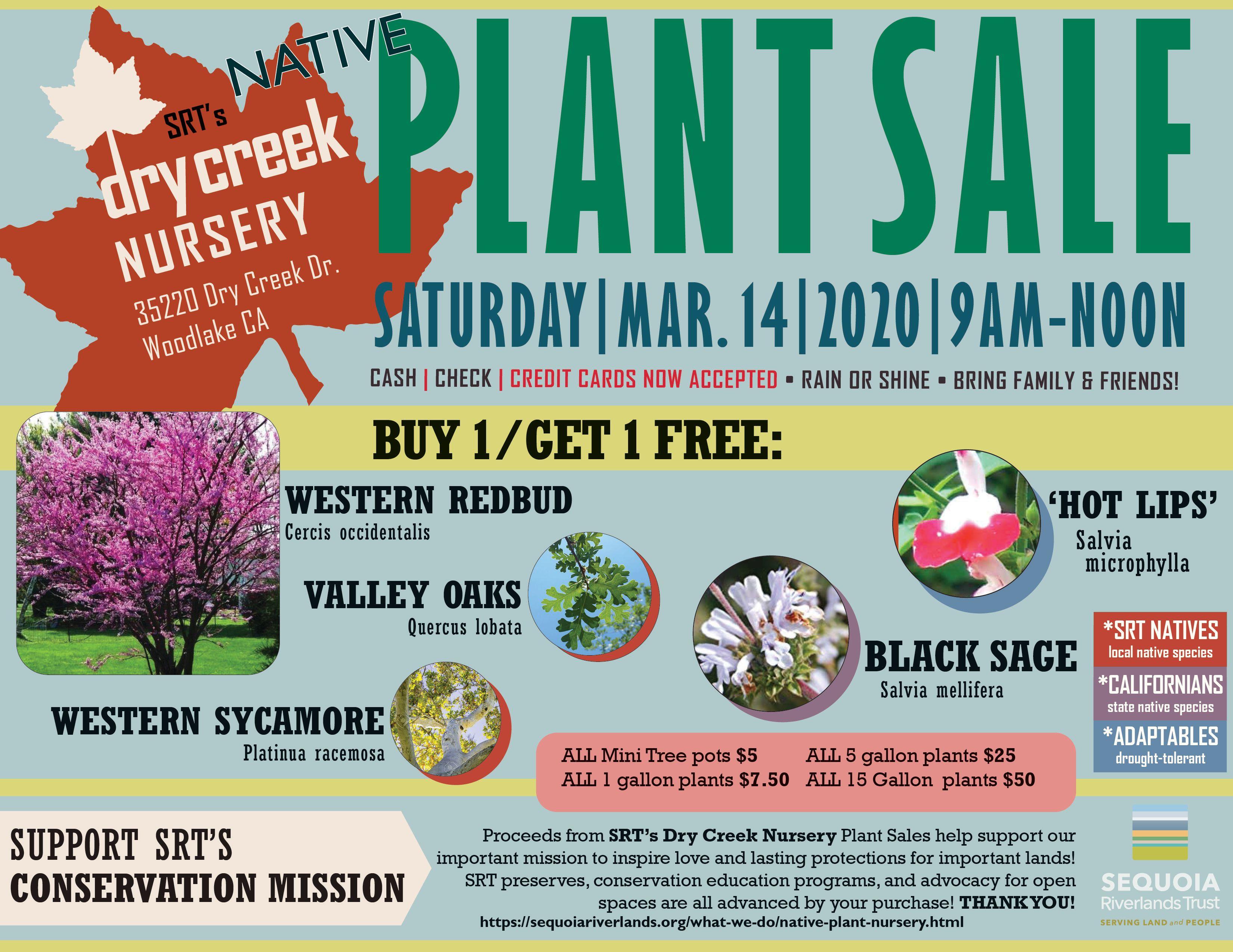 BIG Native Plant Sale returns to SRT Dry Creek Nursery this Saturday!