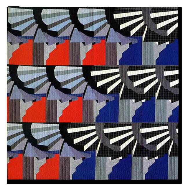 'Spirals I,' made by Pauline Burbidge, made in Nottingham, England, United Kingdom, dated 1985, 88.5 x 87 in, IQSCM 1997.007.1071