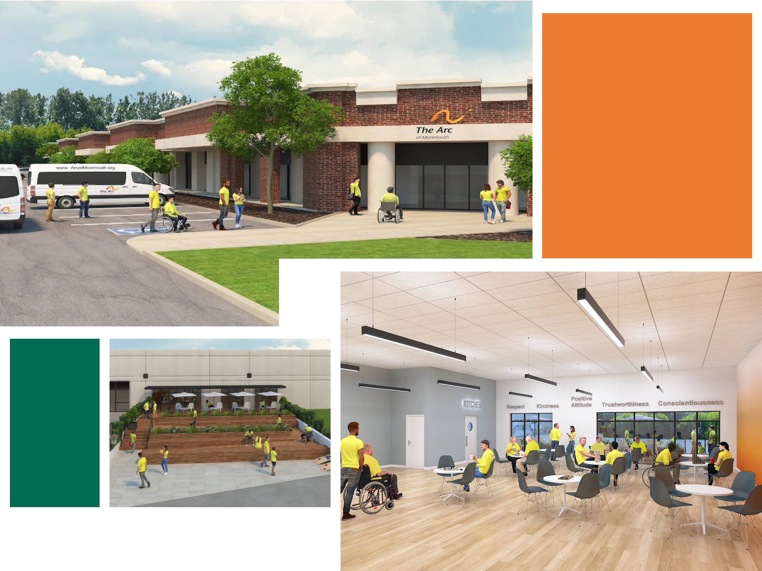 An architect's rendering of The Arc of Monmouth's new day center at 1345 Campus Way in Wall Township.