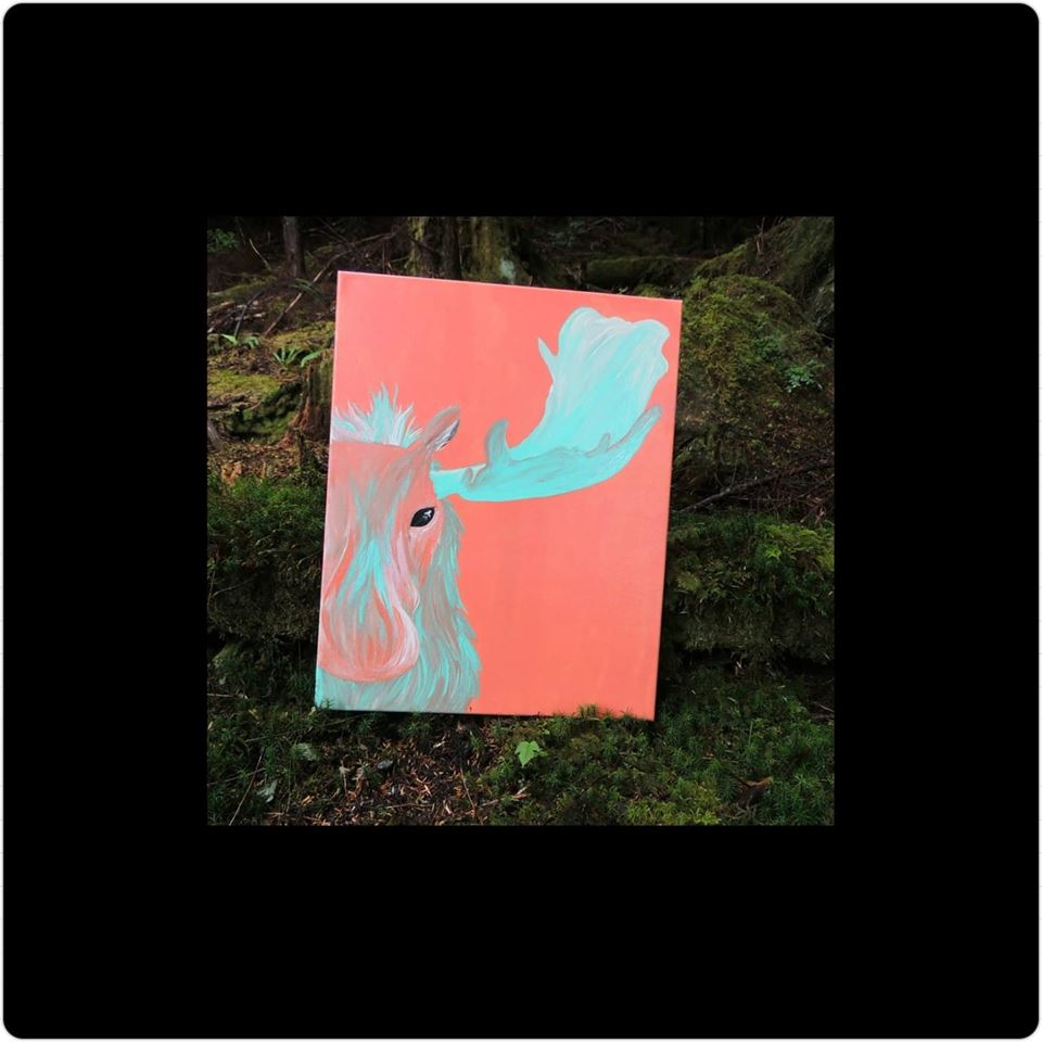 Acrylic Moose Painting