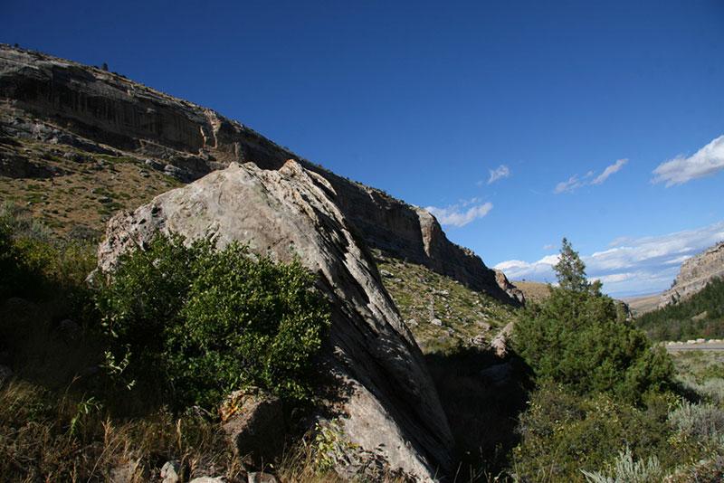 Boulder Beneath Cliffs
