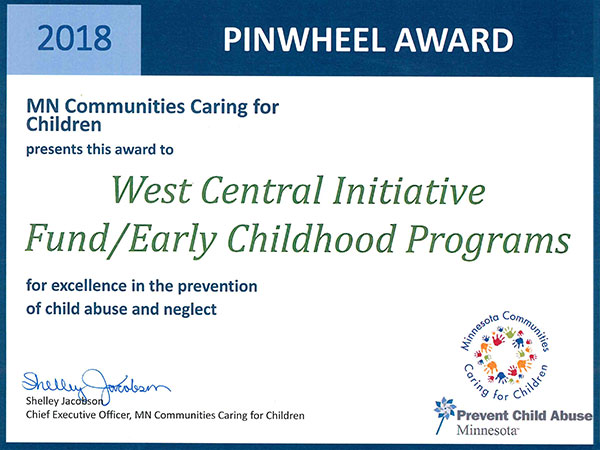 WCI receives Pinwheel Award