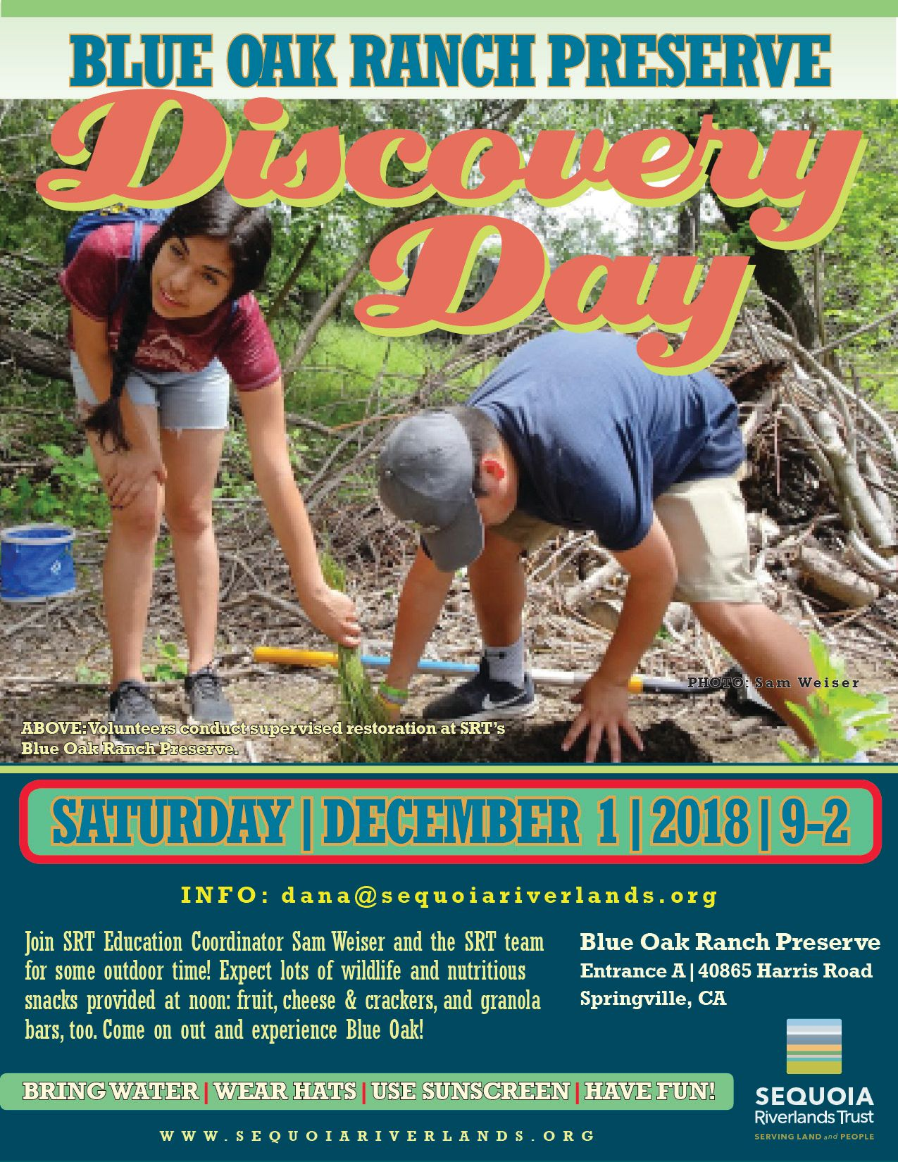Blue Oak Ranch Discovery Day returns Dec. 1