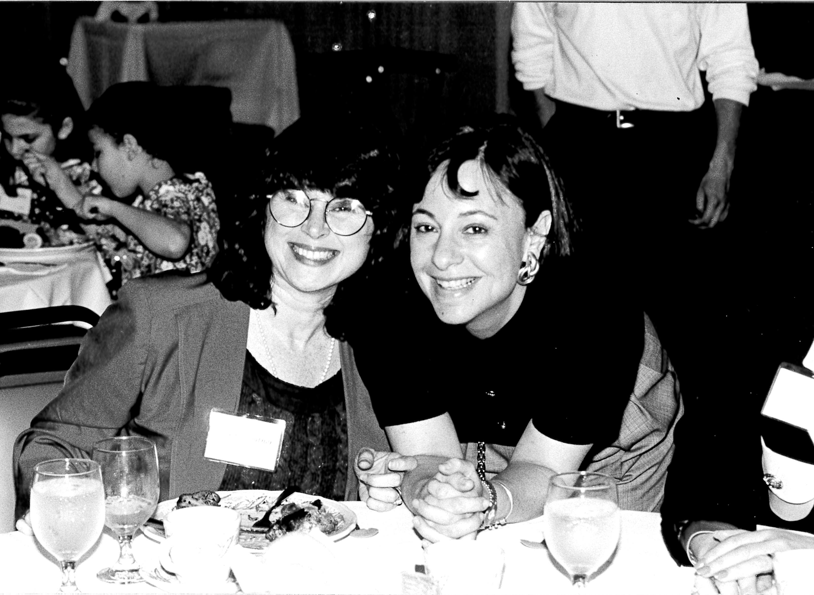 Michele with the Campaign Director for the Women's Campaign, 1990s.
