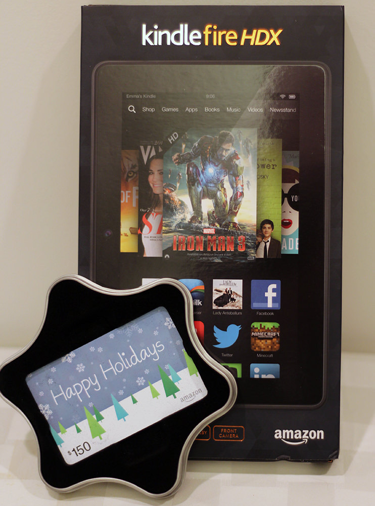 Kindle Fire HDX (16 GB) & $150 Amazon Gift Card - Donated by Richard & Joanna Duncan