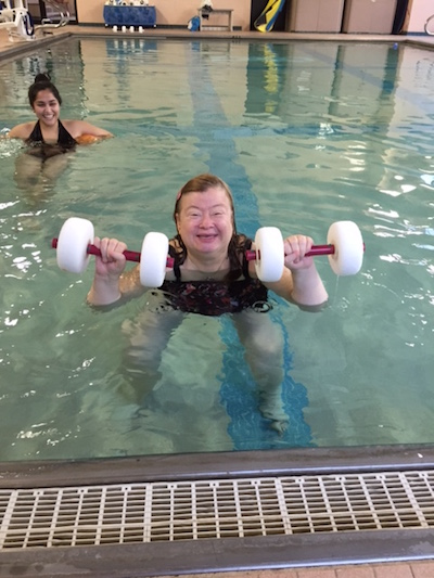Visiting the pool at the Y