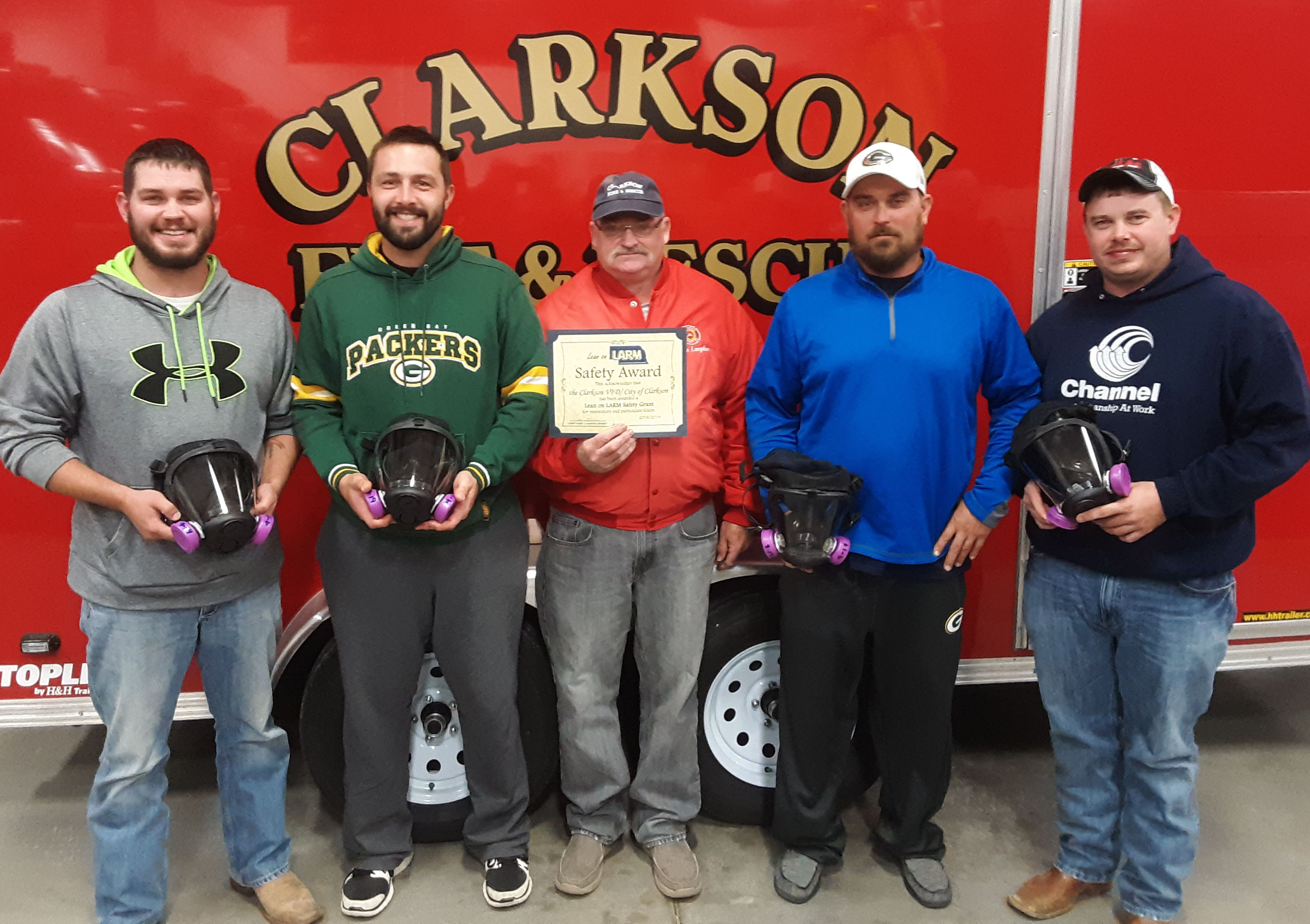 Clarkson Fire Department - Lean on LARM Safety Award recipient