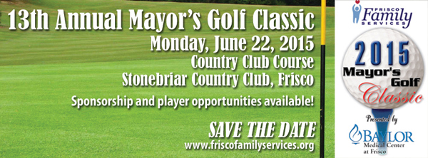 Join us at the 2015 Mayor's Golf Classic
