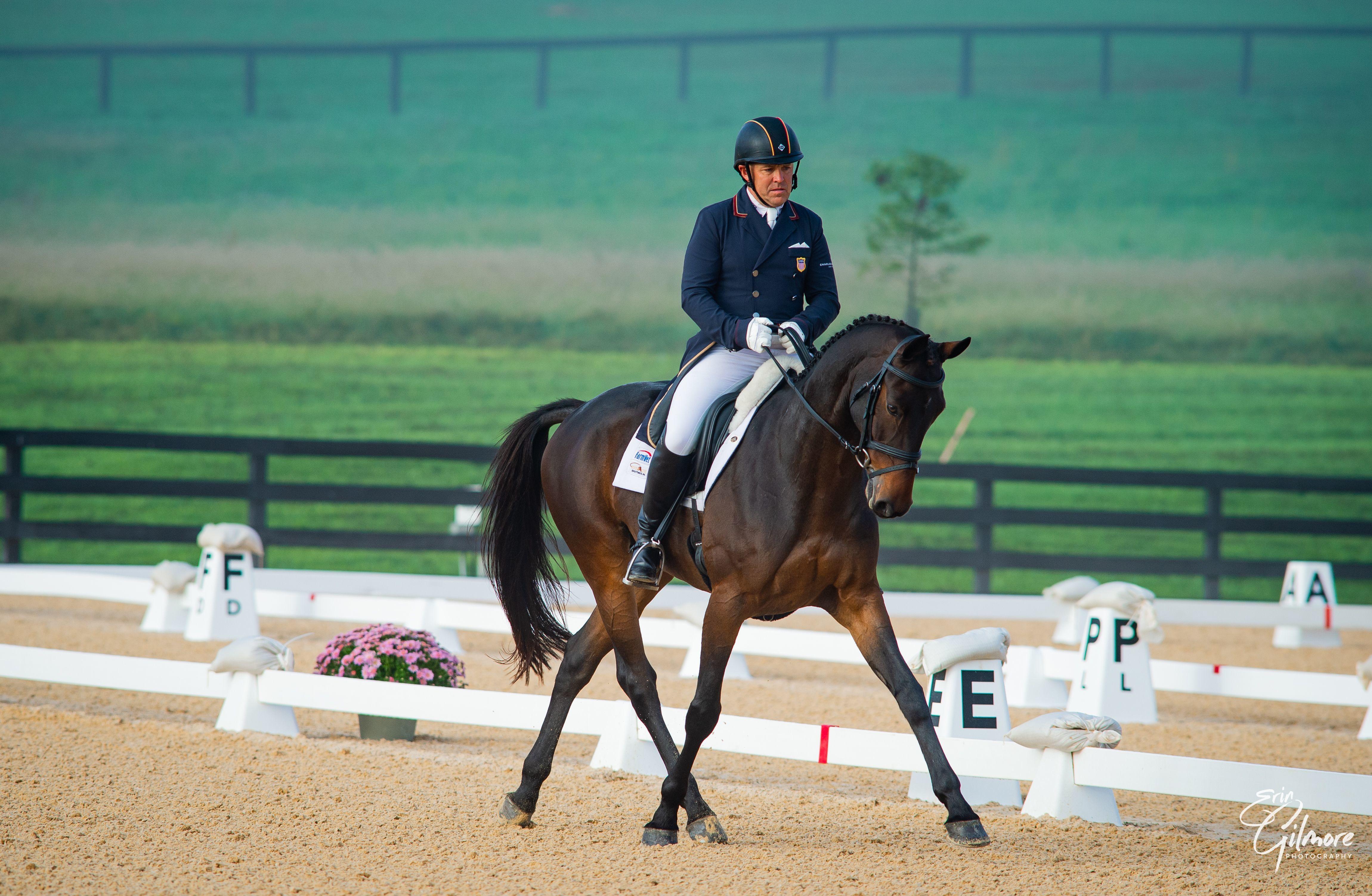 Buck Davidson leads the CCI 4*-L at Morven Park Fall International Horse Trials & CCI