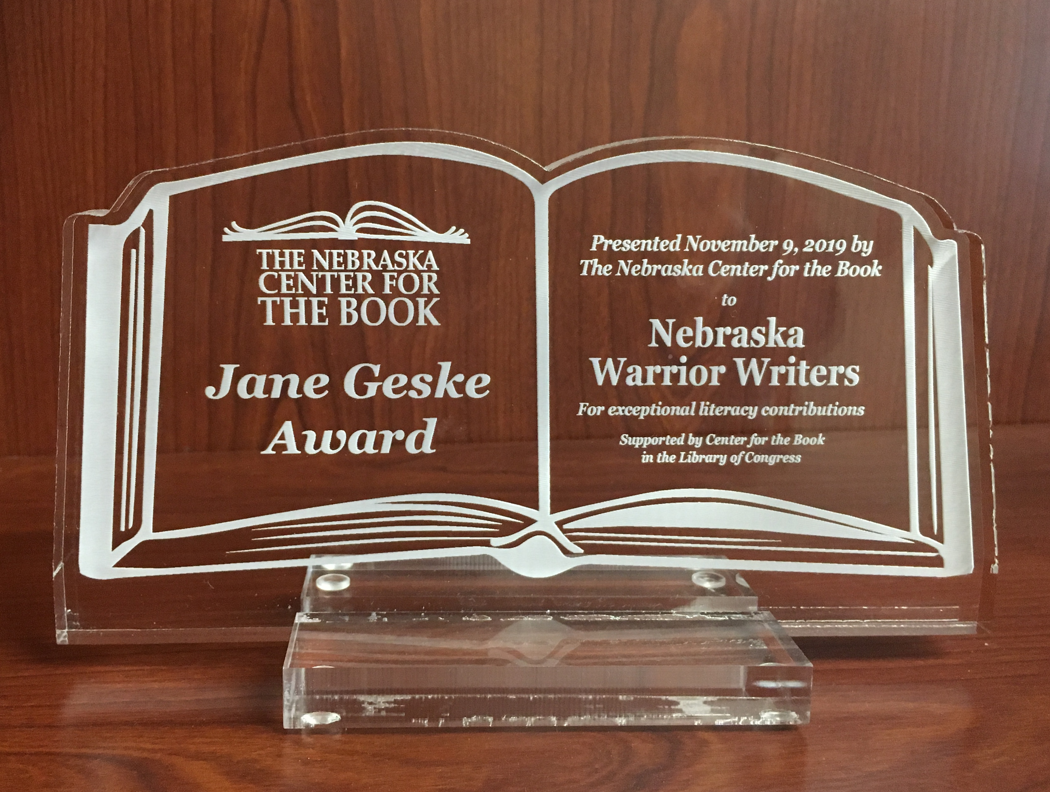 Acceptance Speech: Jane Geske Literary Award