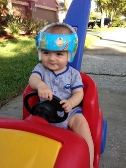 Isaiah Sporting Around in his New Wrap Buddy!