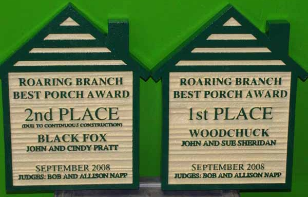 KA20966 - Home-of-Month Sign for HOA, Best Porch