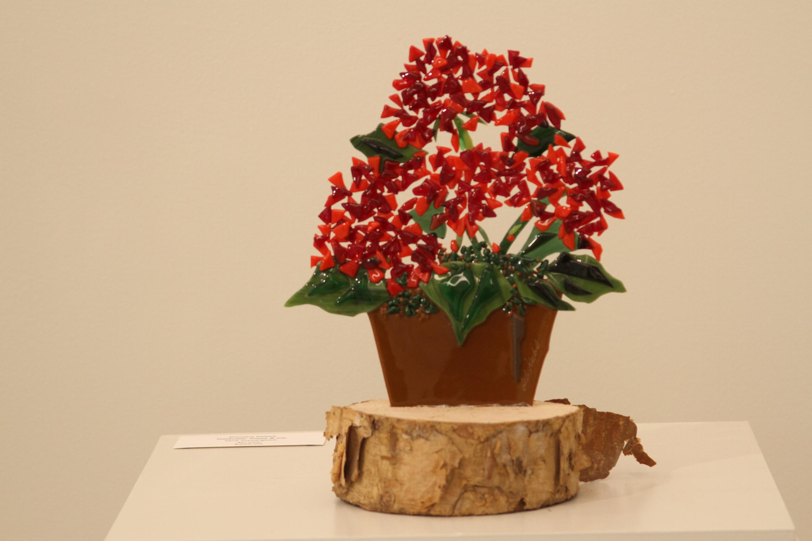Pick Me Too - Red Geranium on Stump