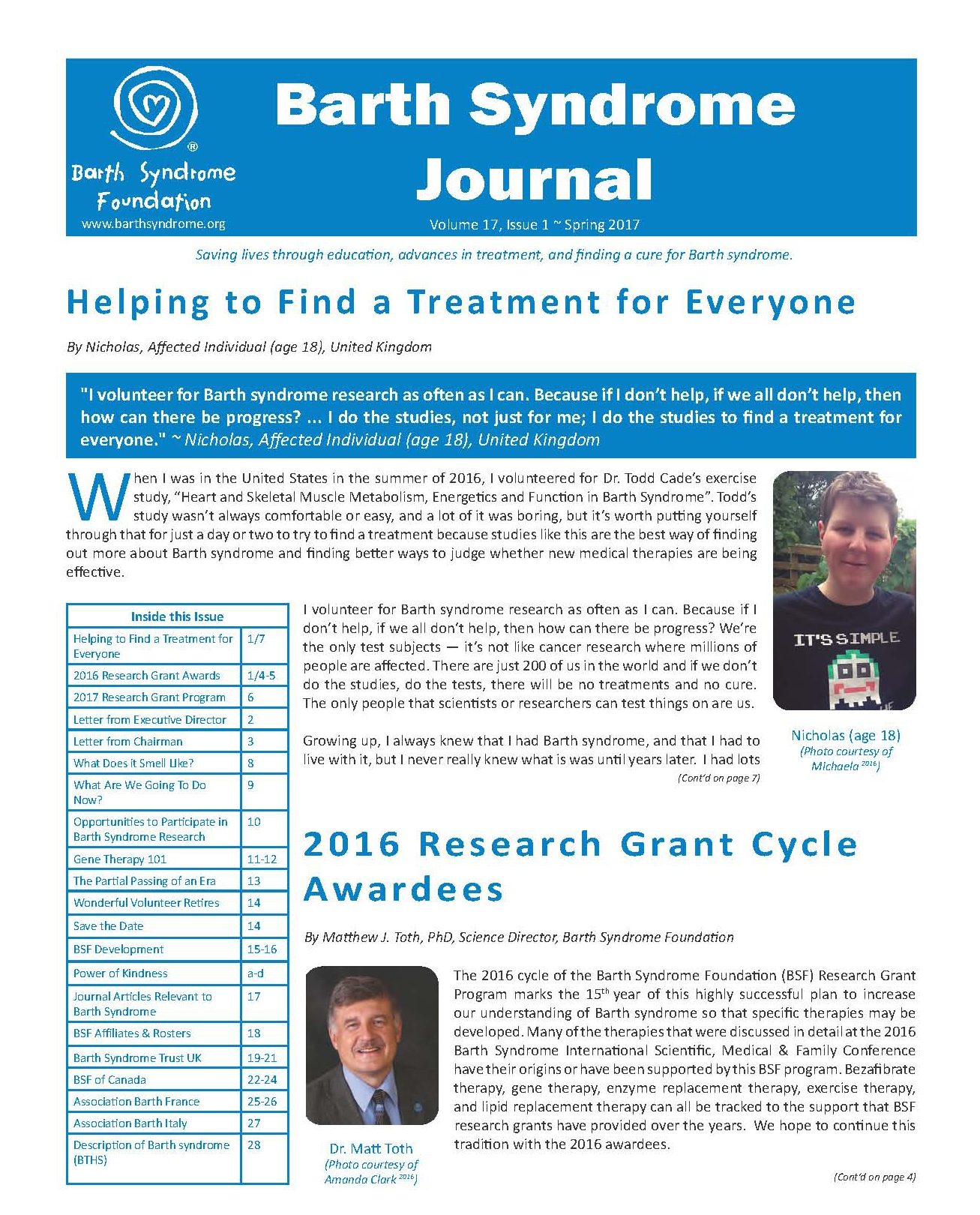 Barth Syndrome Journal Volume 17 Issue 1