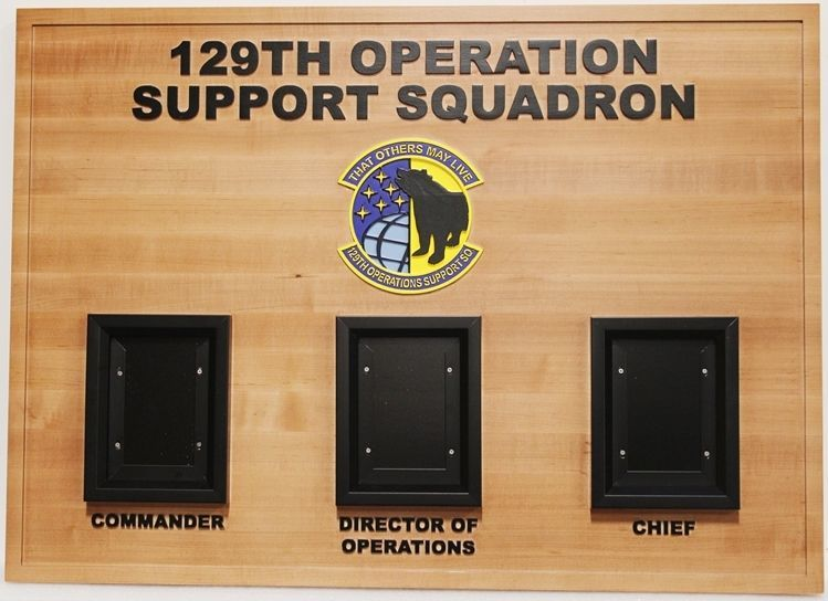 SA1390- Chain-of-Command Board for 129th Operations Group Command Section