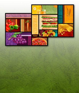 Designer Food Art Murals