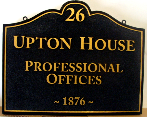 "C12114 - Carved and Sandblasted HDU Professional Offices Sign, ""Upton House"""