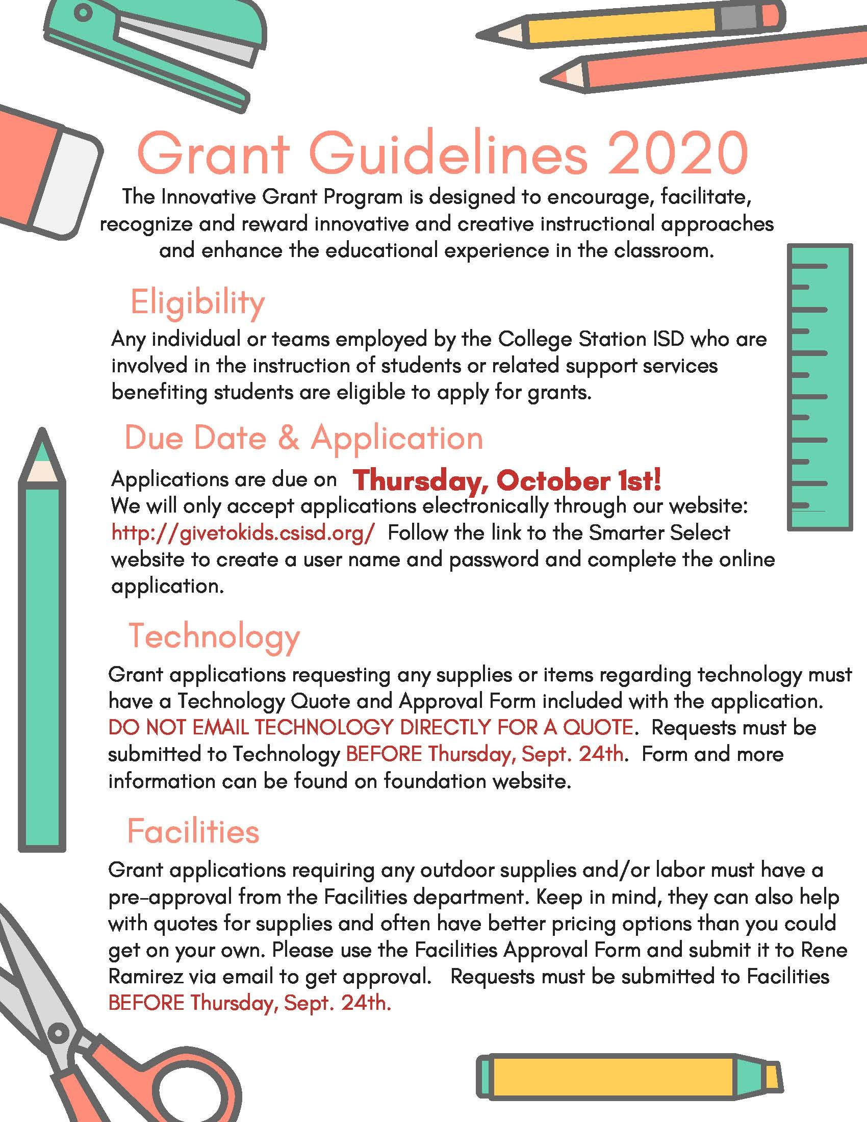 Grant Guidelines 2020