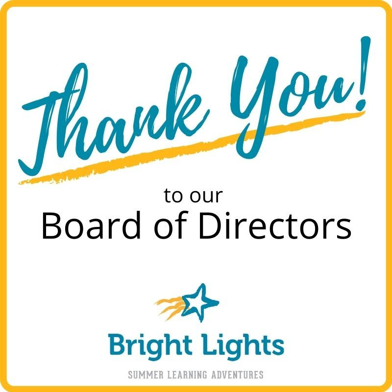 Thank you to our board!