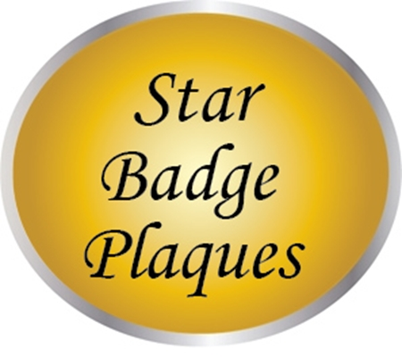 PP-1600 - Star Badge Plaques